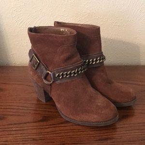 Brown Reba High Ankle Booties